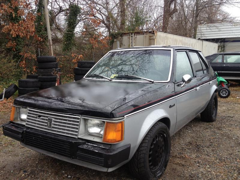 Dodge Omni with a turbo 2.4 L inline-four