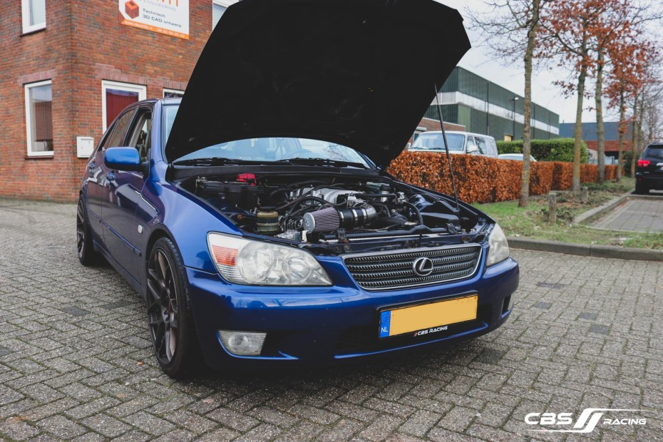 Lexus IS200 with a 3UZ V8 swapped by CBS Racing
