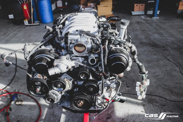 Toyota 3UZ V8 going into a Lexus IS200 at CBS Racing