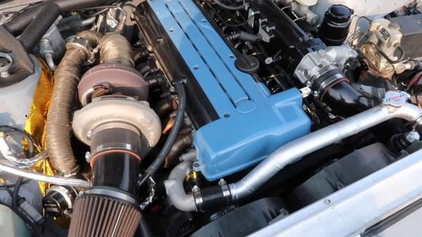 Volvo 240 wagon with a turbo 2JZ inline-six