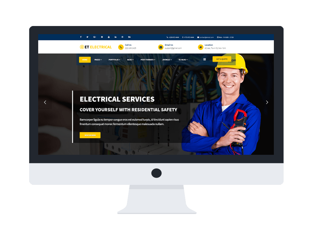 ET Electrical Free Responsive Joomla Electrical Website TemplateET Electrical Free