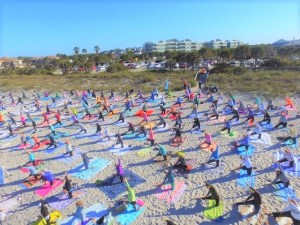 Englewood Events Calendar includes beach yoga times