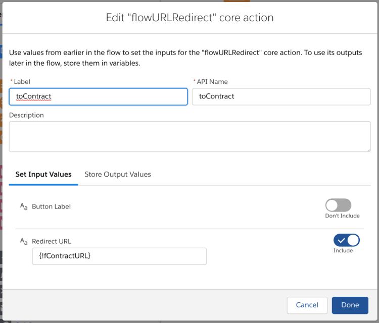 Flow Core Action to Redirect Flow to URL
