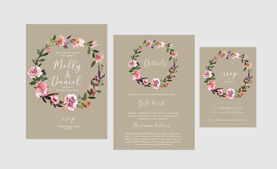 And with a wealth of online resources to help, you can easily make attractive event invitations in. Beautiful Boho Rustic Wedding Invitations In Our Etsy Shop The English Wedding Blog