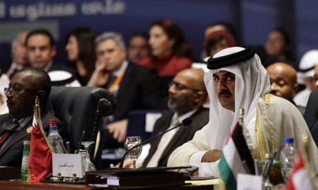 Qatari emir rejects military solution in Libya.  SAUDI BOMBING GRAVEYARDS' THIEVES. Yemen ain't but a graveyard since time seized there. Saudi clotured Arabism to save Iran and Israel. How long this showdown will dance. It's gradually disappearing outta headlines. Where the hell is Baghdadi? Saudi and Iran are fighting for their lives using Yemen as battleground. They ain't anything too bomb there but corpse, raw sewage and famine. It's a miracle. Saudi & Iran blessed Houtis to devastate Yemen now they're gonna nuke each other for Yemen.
