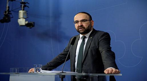 Sweden's Housing Minister Mehmet Kaplan