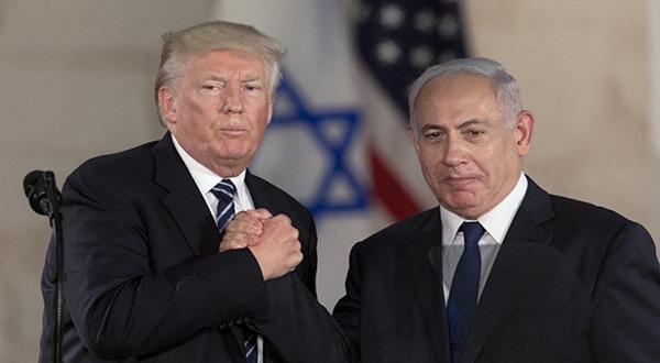 "US President Donald Trump and ""Israeli"" PM Benjamin Netnayahu"