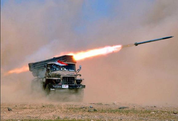 Syrian Army Targeting Nusra Terrorists in Quneitra