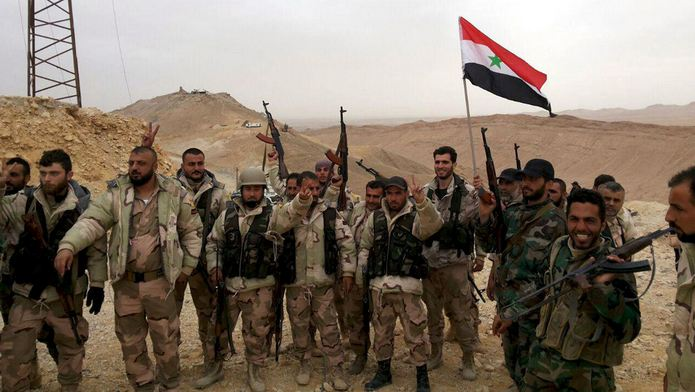 Syrian army advancing towards Palmyra