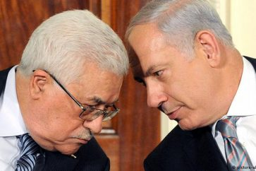 Palestinian Authority Chief Mahmoud Abbas and Israeli Prime Minister Benjamin Netanyahu