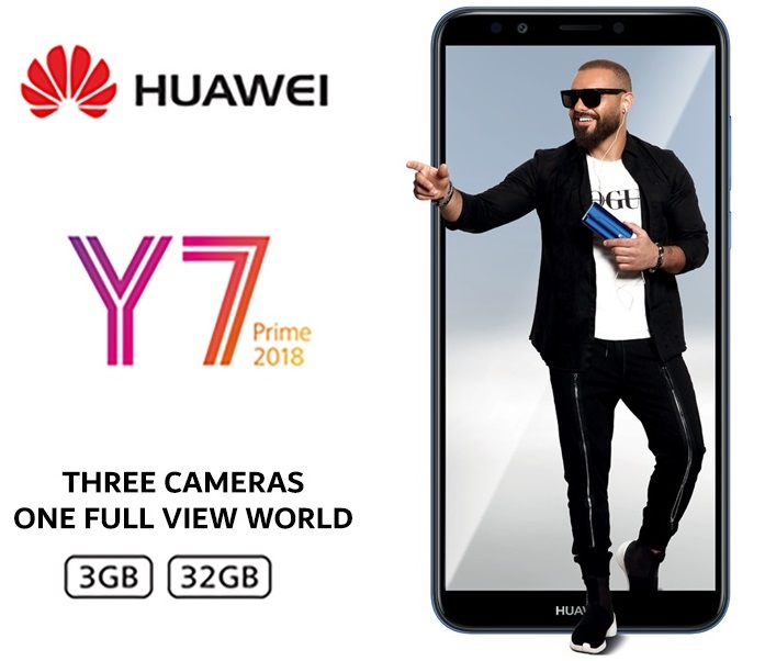 PreOrder your Huawei Y7 Prime 2018 and get a Special Gift Package