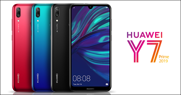 Huawei to release the Y7 Prime 2019