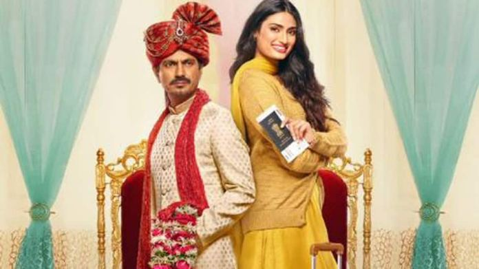 Image result for Motichoor Chaknachoor new poster: Nawazuddin Siddiqui-Athiya Shetty are all set to fly