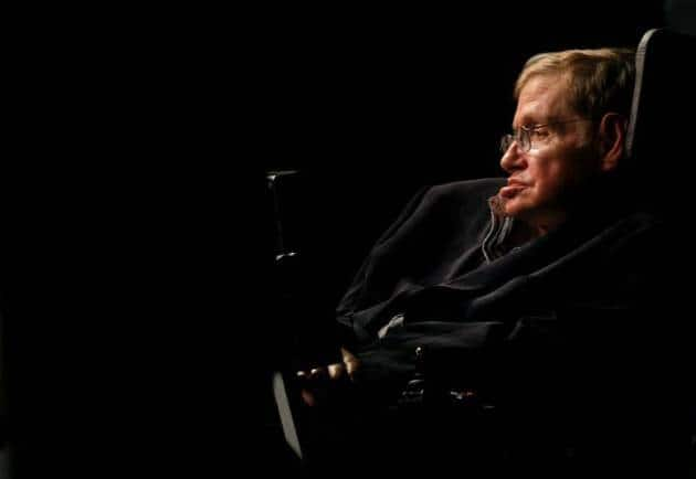 Stephen Hawking addressed a public meeting in Cape Town in 2008