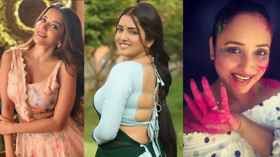 Bhojpuri Holi tadka: Aamrapali Dubey, Monalisa and Rani Chatterjee spice up social media with dance videos – Watch