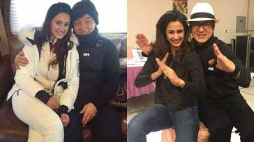 The actress also posted a birthday wish for legendary action hero Jachie Chan on his 67th birthday