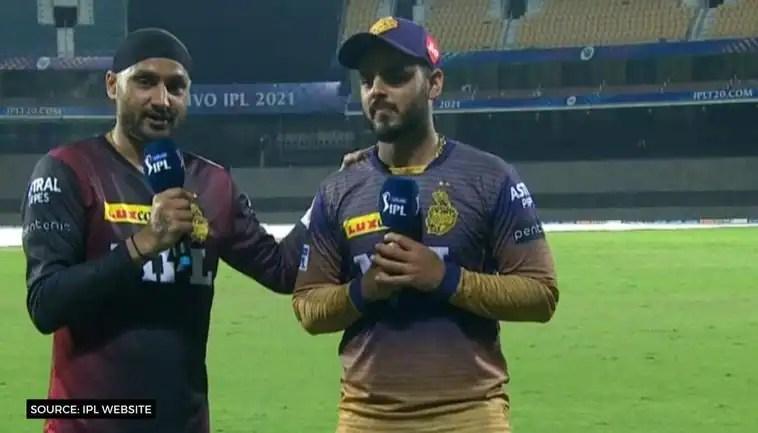 IPL 2021: KKR's Nitish Rana, Harbhajan Singh rap to 'Brown Munde' after win over SRH – WATCH
