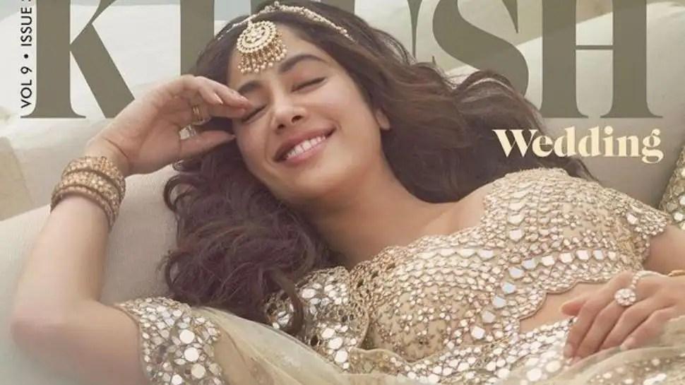Janhvi Kapoor Looks Mesmerizing In New Bridal Magazine Cover Shoot – See Pics
