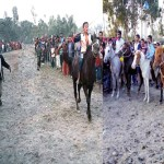 Traditional horse race held in Rangpur village