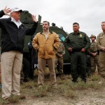 Trump pushes wall plan in US-Mexico border visit