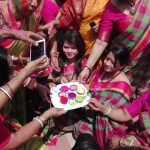 Holi festival being celebrated with festivity