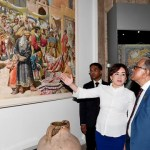 President visits textile factory, museum in Tashkent