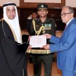 Bahrain, Laos, Seychelles envoys present credentials to President