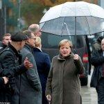 On Wall anniversary, Merkel urges Europe to defend 'democracy, freedom'