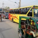Bus service suspended on Dhaka-Rajshahi route