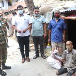 Army, Navy distribute relief, spray disinfectant in three districts