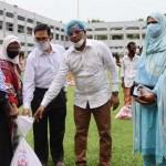 125 poor families get relief in Kishoreganj