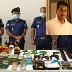 Faridpur City AL president arrested, 1,200 sacks of rice, arms, drug, cash seized