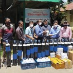 Govt Commerce College Ctg alumni give safety equipment in Rangamati