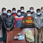 9 gamblers held in Sirajganj