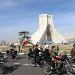 Socially-distanced Iran parades on wheels, not feet, to commemorate 1979 revolution