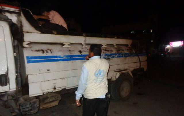 WHO is providing fuel to the Ministry of Public Health and Population in Yemen to address critical shortages. Photo: WHO Yemen