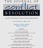 New Issue: Journal of Conflict Resolution