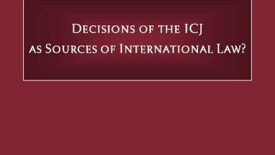 Gaetano Morelli Lectures Series: Decisions of the ICJ as Sources of International Law?