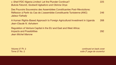 African Journal of International and Comparative Law - Volume 27, Issue 2, May 2019