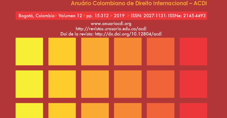 ACDI - Anuario Colombiano de Derecho Internacional - Vol. 12 (2019)