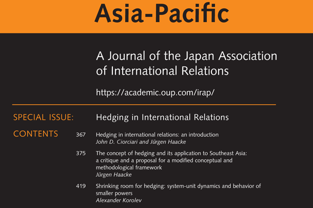 International Relations of the Asia-Pacific - Volume 19, Issue 3, September 2019