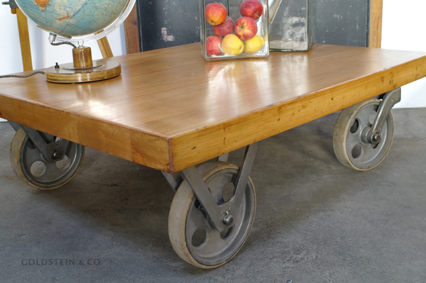 goldstein co while stocks last wooden cart coffee table on wheels