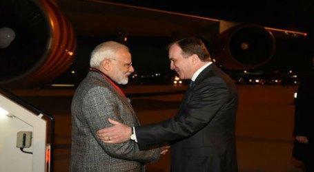 PM Modi arrives in Sweden on two-day visit