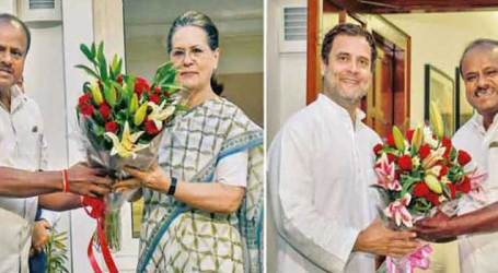 Kumaraswamy meets Rahul, Sonia; discusses Government formation
