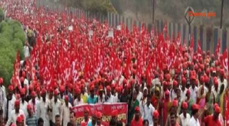 23 States Farmers, workers protest; 'Long March' in November