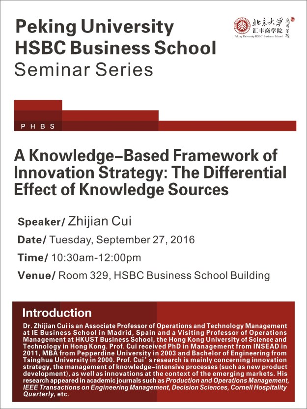 a knowledge-based framework of innovation strategy: the differential