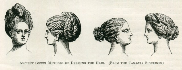 ancient greek methods of dressing the hair. (from tanagra