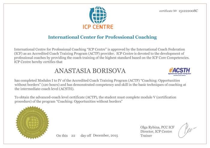 ACSTH Certificate