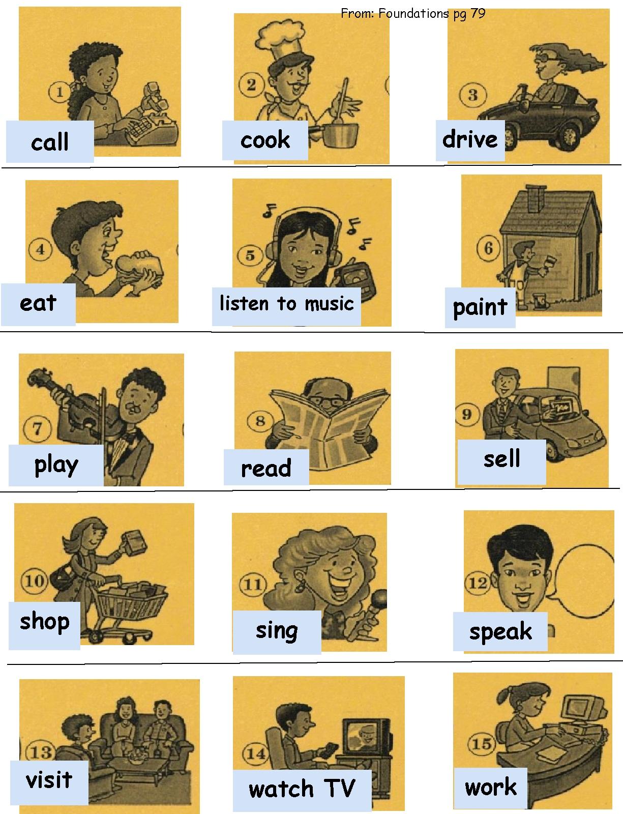 List Of Doing Verbs