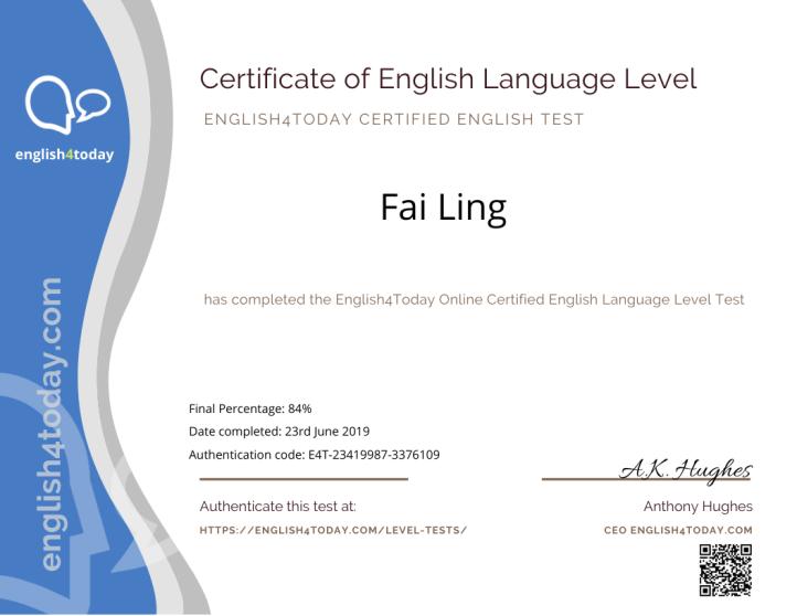 Premium Certified English Language Test 2